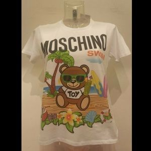 Moschino Swim Jeremy Scott Teddy Bear Palm Tree T